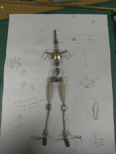 The pictures shows a puppet armature done for the company Mackinnon and Saunders.