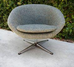Grey Tweed Overman Pod Chair