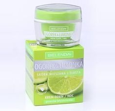 Bielenda Cucumber & Lime Day & Night Cream - 1.7 fl. oz. by Bielenda. $14.50. Mattifying & Balancing Cream. anti-shine effect. day night cream. Bielenda Cucumber and Lime Day/Night  Cream    Mattifying & Balancing Cream is a perfect cosmetic recommended for year-round care, preventing shiny skin, pimples and blackheads.  It provides a comprehensive effect: -perfect anti-shine effect all day long, intensive skin moisturizing -absorbs excess sebum and balances sebum levels -contr...