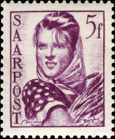 Η Ευρώπη της εργασίας - 1948 Farm Girl SAAR  GERMANY
