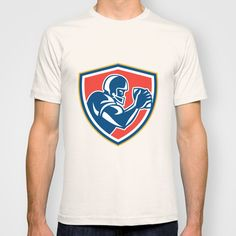 Buy American Football Player Ball Side Shield by Patrimonio as a high quality T-shirt. Worldwide shipping available at Society6.com. Just one of millions…