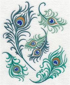 Machine Embroidery Designs at Embroidery Library! - Peacocks