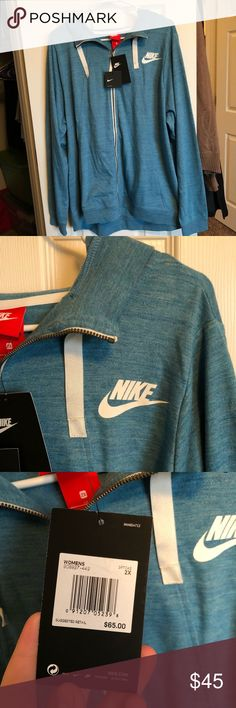 NWT 2XL Nike Sweatshirt This gorgeous teal Nike Sweatshirt is in the size 2XL. Has pockets and a hood. Amazing quality and New With Tags!   🌈 ALL orders are shipped within 2 days   🌈 Items are guaranteed to come wrapped/packaged appropriately  🌈 5 ⭐️ Seller! Check my reviews!  🌈 Feel free to make offers and bundle to save even more!  🌈 Smoke free home Nike Jackets & Coats