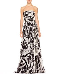 Maria Printed Bustier Gown by Ralph Lauren at Bergdorf Goodman. $6000 I will like it from a distance LOL