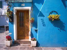 #Burano, (Venetian Island), Italy~blue photo by Mitcho68, via Flickr