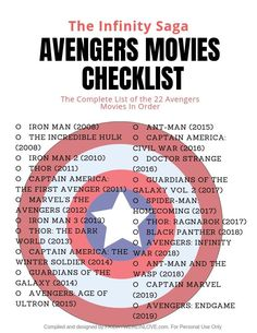 Avengers Date Night + Avengers Movies in Order