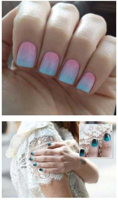 Best Tutorials for Ombre Nails - Nail Alert - How To Create Ombre Nails - We've Found The Worlds Best Tutorials For Ombre Nails. We Have Videos And Step By Step DIY Guides And Pictures To Help You Master The Ombre Nails Look. Whether You Want To Do Acrylic Or Gel, Use Glitter Or Go Natural, We Have You Covered. We Are Seeing Red, White And Black Trending Right Now. Try A French Twist On The Ombre Nail Or Try A Summer Look With A Blue And Pink Shellac. These Ombre Nails Ideas Will Wow You…