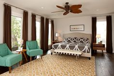 A Delightful Mix Of Modern Retro By Lane Design Studio. Bedroom via Design Shuffle