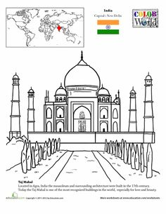 Color the World! The Taj Mahal - Homeschooling Holidays - - Color the World! The Taj Mahal - Homeschooling Holidays Geography For Kids, Teaching Geography, World Geography, Geography Worksheets, Taj Mahal, Travel Around The World, Around The Worlds, World Thinking Day, My Father's World