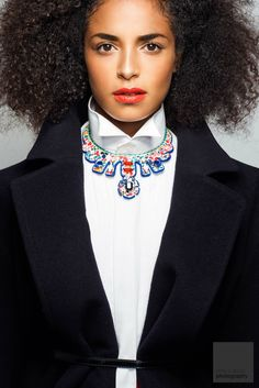 Liberty Print Leather Collar by GreenEyeRocks