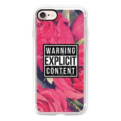 Cool Sassy 90s Grunge Aesthetic Warning Explicit Content Vintage Red... ($40) ❤ liked on Polyvore featuring accessories, tech accessories, iphone case, iphone cases, pink iphone case, floral iphone case, iphone cover case and apple iphone cases