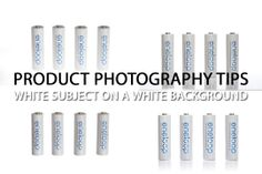 A variety of methods for capturing a white subject on a pure white background without loosing detail.