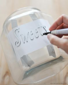 DIY Customized Gift Jars with Free Templates with the Sakura 1.0mm Fine Point Pen-Touch Paint Pen