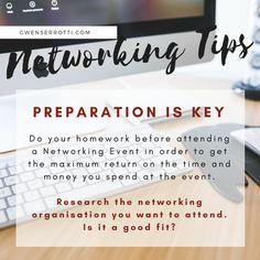 Networking Tip: Preparation is Key! Do Homework, Effort, Entrepreneur, Boss, How To Get, Key, Business, Organisation, Unique Key
