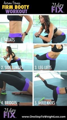 Firm up your booty with this quick workout from the creator of the 21 Day Fix! Check it out here: http://www.tipstoloseweightblog.com/fitness/21-day-fix-workout-firm-booty-workout