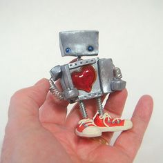 Robot Heart by Jtnee on Etsy