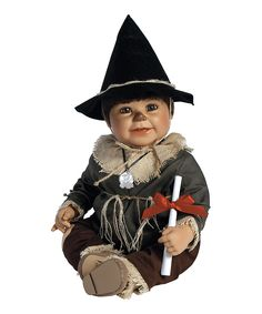 The Wizard of Oz Scarecrow Doll. This sweet doll commemorates the 75th anniversary of The Wizard of Oz with a beautifully constructed costume and faithful details to bring your favorite character to life. Vinyl / Fabric [4'' W x 20'' H x 7'' D] $64.99
