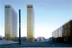 Court of Justice of the European Communities, Luxembourg, by Dominique Perrault. Europe Day, France Europe, Building Skin, Building Facade, Building Design, Architectural Engineering, Modern Architecture Design, Architecture Board, Spiegel Online