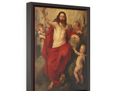 Peter Paul Rubens, He Is Risen, Religious Art, Framed Canvas, Christians, Fiat, Catholic, Wall Art, Prints