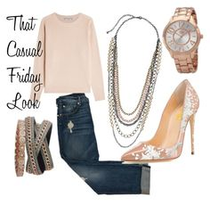 """Casual Fridays"" by lindsayhuffman on Polyvore featuring 7 For All Mankind, Vince and casualfriday"