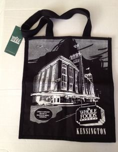 Whole Foods London Bag Kensington Barkers Building Black Tote UK New Cotton