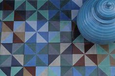 Popham Design tiles  //// blues and greens