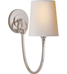 Visual Comfort Thomas OBrien Reed 1 Light Decorative Wall Light in Polished Nickel TOB2125PN-NP #visualcomfort