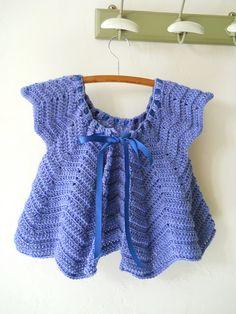 81f7061ffbe Gilet Crochet Baby Shrug