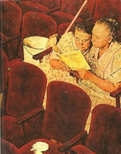 a thousand words. LOVE this picture by Norman Rockwell.