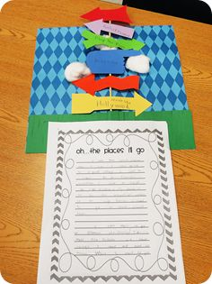 time capsule writing activity for second