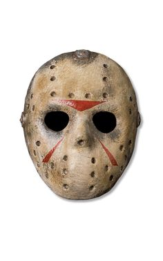 Become one of the most spookiest horror film villains when you wear the Friday the Jason One-Size Adult Halloween Mask. This authentic mask is dirty and distressed just like Jason's, and is ideal for scaring people this Halloween. Jason Halloween Mask, Adult Halloween, Halloween Masks, Creepy Halloween, Vintage Halloween, Jason Friday, Friday The 13th, Jason Voorhees Hockey Mask, Mascaras Halloween