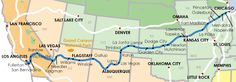 route map of the southwest chief train from chicago to flagstaff | サウスウエスト・チーフ(Southwest Chief) | Amtrak Towns