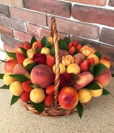 Food Bouquet, Edible Bouquets, Photo Boxes, Diy Gift Baskets, Fresco, Cake Decorating, Berries, Apple, Cooking
