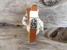 EXPRESS SHIPPINGMen's Camel Leather BraceletMusic Note #bracelet #for #summer #fashion
