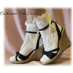Paris Peek a Bow Cream anklet | Cs5 – Catherine Cole Studio via Polyvore