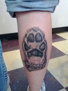 My dog's paw print on my calf I got a few weeks back. Love my Toofer.