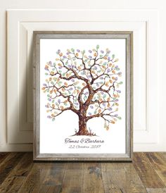 Printable Thumbprint Guestbook - Baby Shower Guestbook - Thumbprint Wedding Tree - Bridal Shower Sign In - Family Reunion Decor,