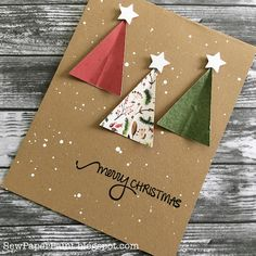 Diy christmas cards 551479916874376677 - SewPaperPaint: Simple Stamped Christmas Cards with Patterned Paper Source by Stamped Christmas Cards, Simple Christmas Cards, Christmas Card Crafts, Homemade Christmas Cards, Christmas Cards To Make, Christmas Gift Wrapping, Kids Christmas, Homemade Cards, Handmade Christmas