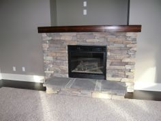 Red Brick Fireplace Black Slate Hearth White Cabinets