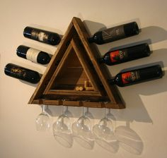 Awesome wine rack & glass holder!