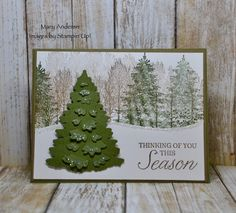 Stampin'Up! Winter Woods Winter Cards, Holiday Cards, Christmas Cards, Images Of Mary, Wood Stamp, Stampin Up Christmas, Stamping Up, Diy Projects To Try, Homemade Cards