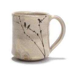 birds  ceramic art  mug?