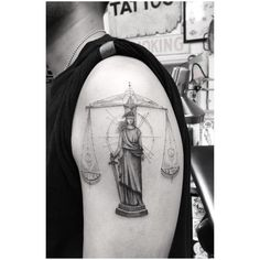 Lady Justice by dr_woo_ssc Dr Woo, Wing Tattoo Men, Cross Tattoo For Men, Small Tattoo Designs, Small Tattoos, Tattoos For Guys, Future Tattoos, Law Tattoo, Libra Sign Tattoos