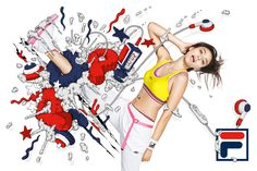 Fila Japan - Alex Trochut Client: FILA Japan Print Campaign for the SS 2010 season of Fila Japan. Tennis, Golf and Fitness. Japan Design, Letter Art, Mood, Print Ads, Photo Illustration, Banner Design, Editorial Design, Creative Design, Illustrators