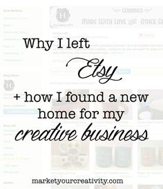 A fantastic blog post! - #Etsy alternatives and #Shopify review + options for where to sell online