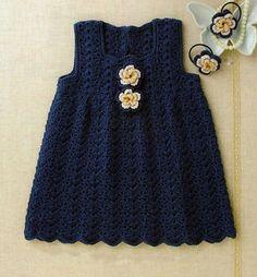 Materiales gráficos Gaby: Vestidos en crochet para niñas