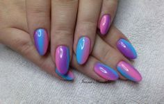 #ombre #summer #pink #blue #nails #crystalnails