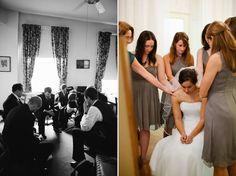 Prayer before a wedding