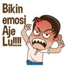 Aye betawi asli 2 – LINE stickers Cartoon Jokes, Funny Cartoons, Line Store, Line Sticker, Cute Gif, Life Humor, Emoticon, Cute Stickers, Funny Faces