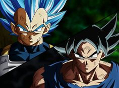 Goku and Vegeta (Ultra Instict) Dragon Ball Super Vegeta Ssj Blue, Kid Vegeta, Goku Vs, Dragon Ball Z, Gogeta And Vegito, Broly Movie, Ssj3, Hero, Anime Characters
